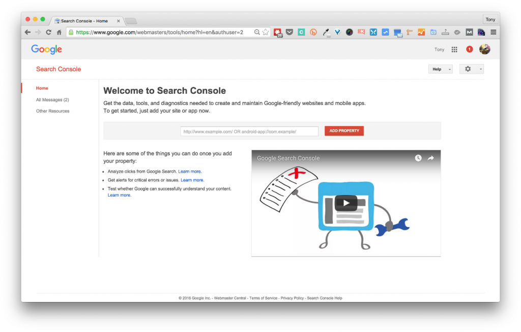 Ver los enlaces en Google Search Console